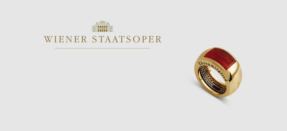 Ehrenring der Wiener Staatsoper_ Gelbgold Karneol