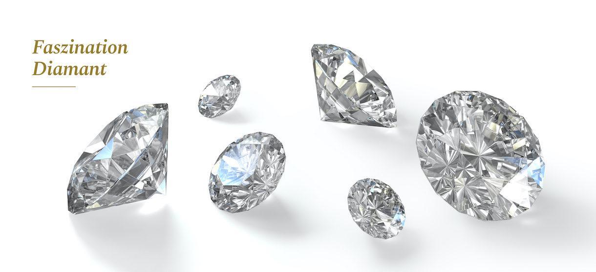 Der Schliff entfacht das Funkeln des Diamanten