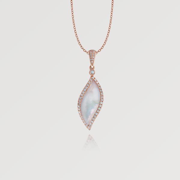 Wagner Signature Seaside Anhänger mit Kette Rosegold Perlmutt Diamanten