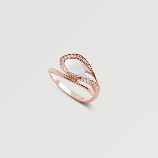 Wagner Signature Seaside Ring Rosegold Perlmutt Diamanten