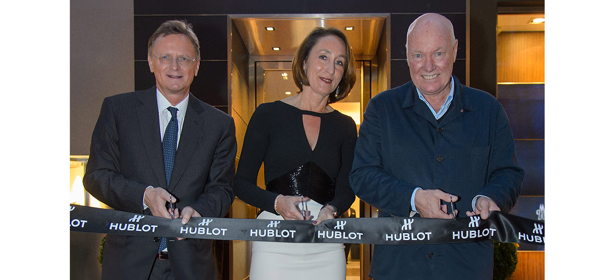 Ceremonial opening of the first Hublot Boutique in Austria